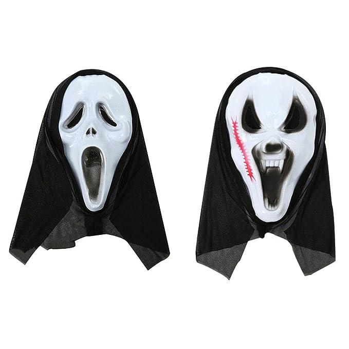 Amazon.com: Máscaras fantasma Screaming Ghost Halloween ...