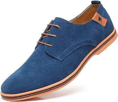 CAGAYA Hombre Zapatos Oxford Cordones Informal Negocios Boda Calzado Estilo Británico Comodidad Derby Cuero 38-48