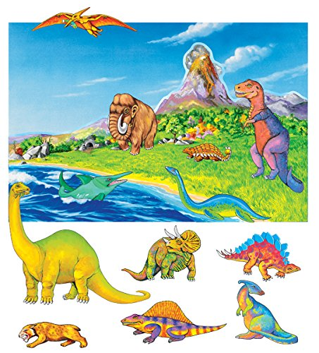Small Dinosaurs Pre-Cut Flannelboard Figures w/unmounted water/sky