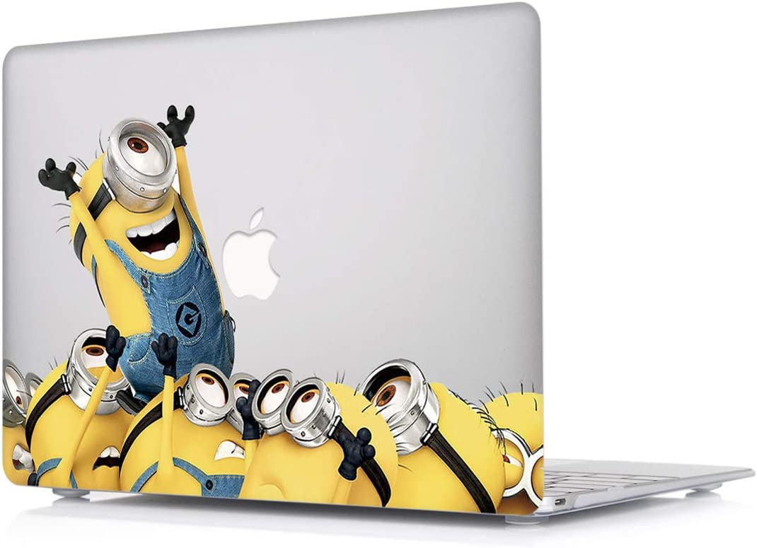 """L2W MacBook Pro 13 Inch Case Plastic Printed Protective Hard Cover for Apple Laptop Mac Pro Oldest 13.3"""" with CD Drive (Released in 2009~2011) Model: A1278,Minions"""