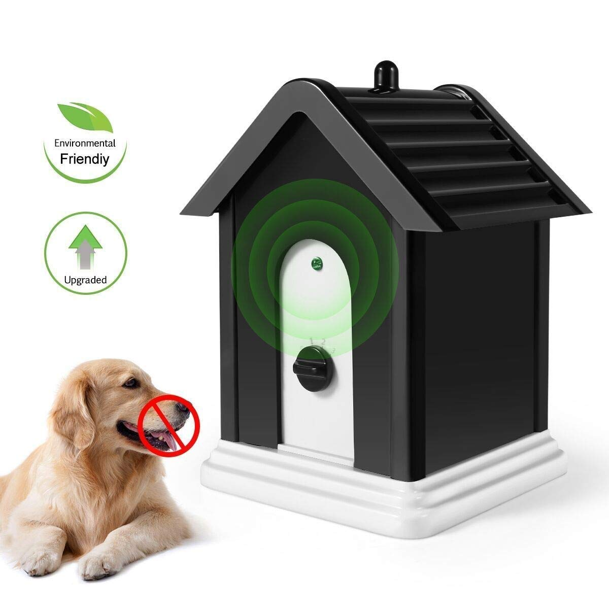 SOARING Anti Barking Device, Sonic Bark Deterrents ,Bark Control Device,Advanced Outdoor Dog Bark Contrl Box Repellent Device with Adjustable Ultrasonic Level Control Safe for Dogs by SOARING