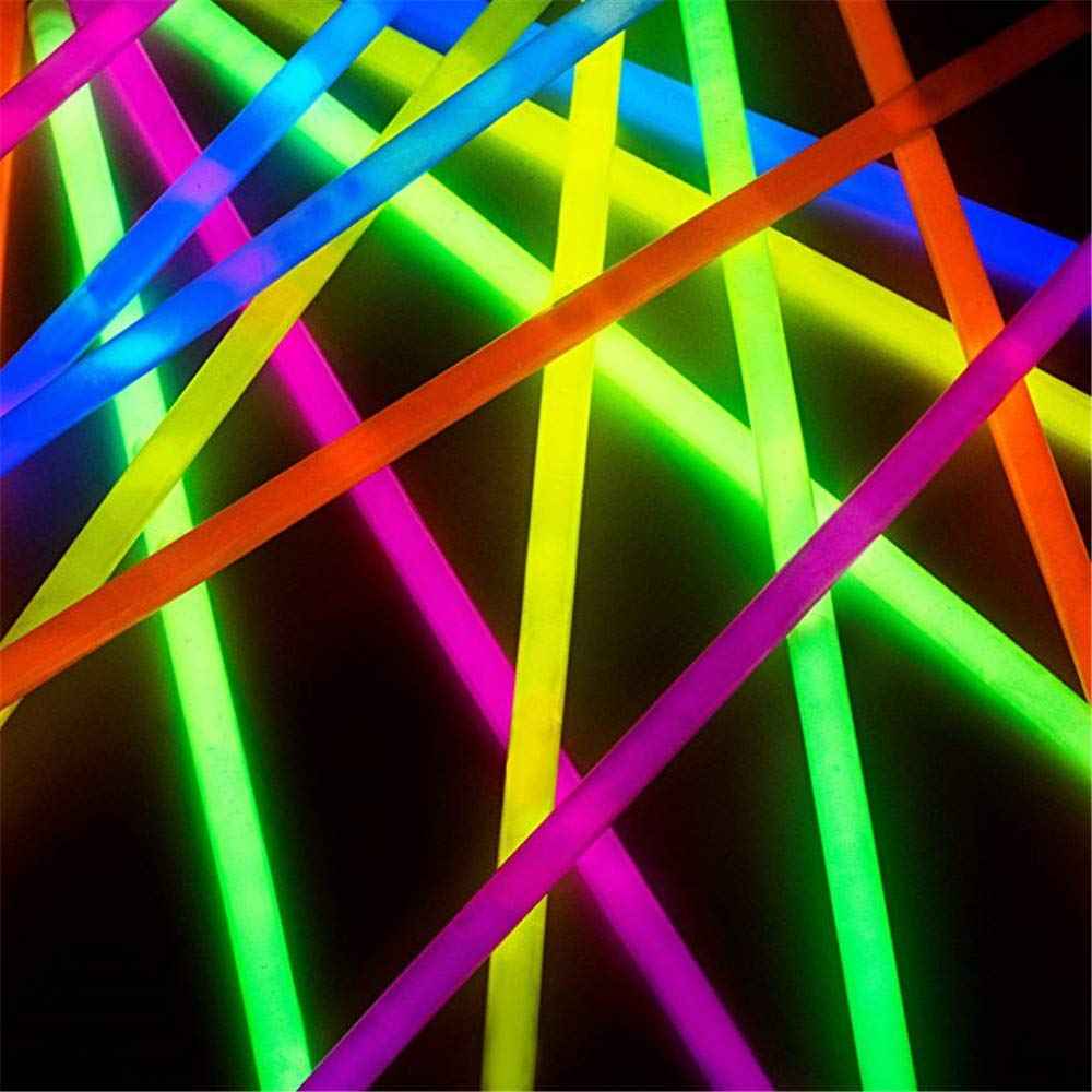 Lumistick Premium 22 Inch Glow Stick Necklaces with Connectors | Kid Safe Non-Toxic Glowstick Necklaces Party Pack | Available in Bulk and Color Varieties | Lasts 12 Hours (Color Assortment, 100) by Lumistick (Image #7)