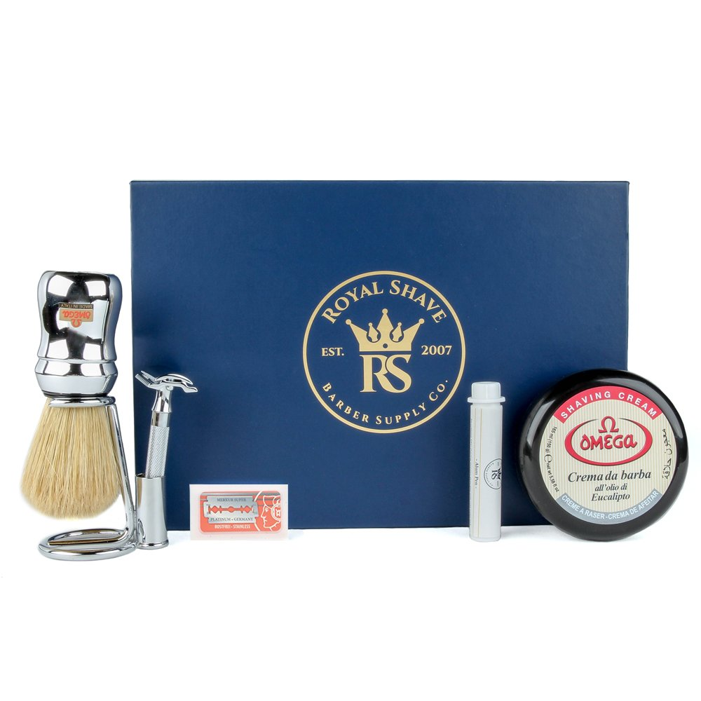 Merkur 33C Classic Safety Razor Set - Complete Wet Shaving Set for Men!