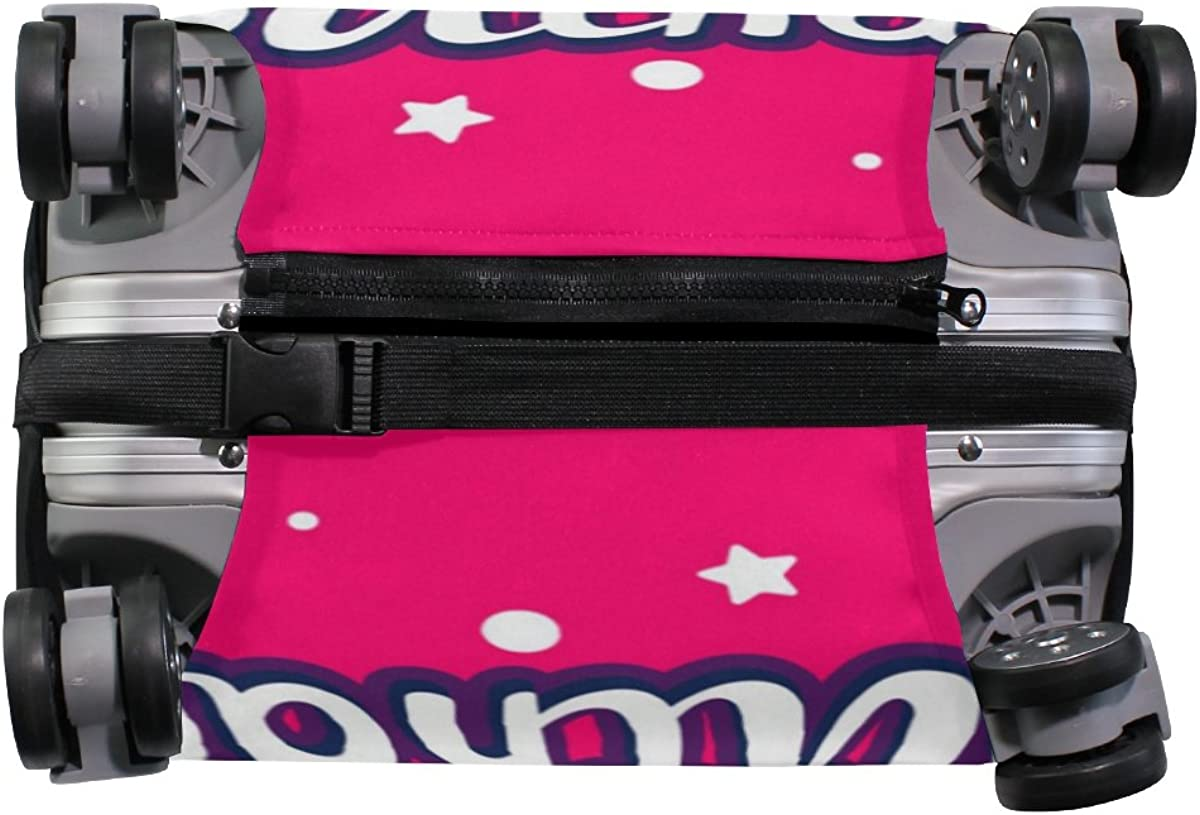 Elastic Travel Luggage Cover Happy Birthday Suitcase Protector for 18-20 Inch Luggage