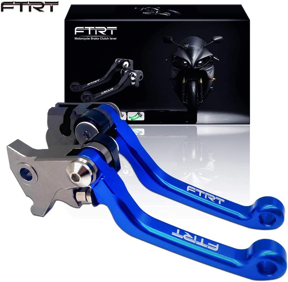 FTRT Pivot Dirt bike Brake Clutch Levers for Yamaha WR250F 2005 2006 2007 2008 2009 2010 2011 2012 2013 2014 2015 2016// WR450F 2005-2015 Blue