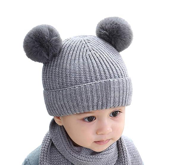 Cable Knit Chaud Tricoté Laineux Hiver Femme Polaire Filles Bonnet homme  gris chapeau ce0f7a2c00a