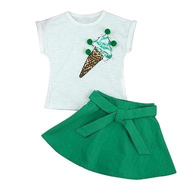 d6a9f1537adf Bekleidung Longra Sommer Baby Kinder-Mädchen-Mode-Cartoon Kätzchen wenig  Bedruckten Kurzarm T