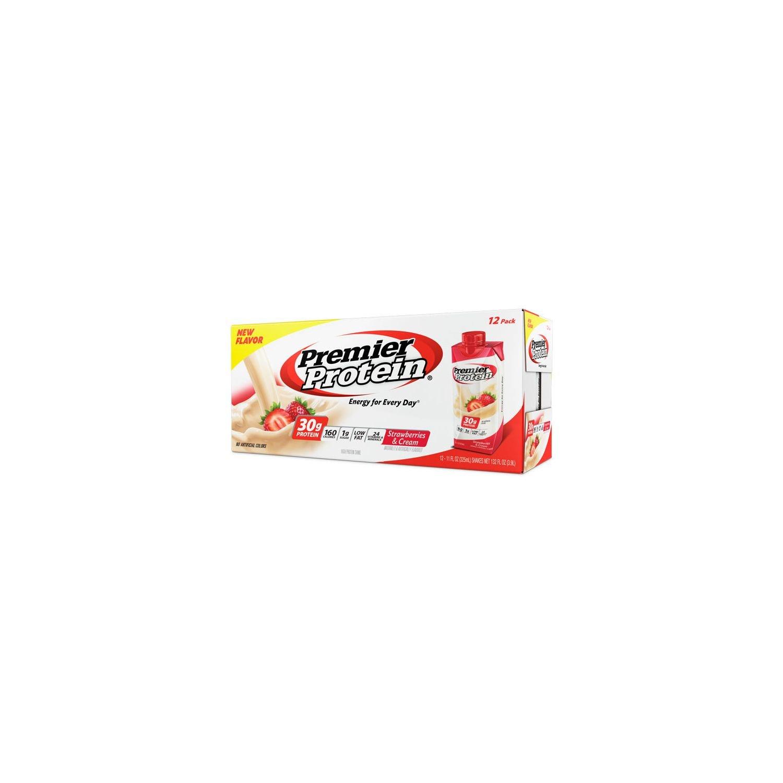 Premier Protein High Protein Shake, Strawberry Cream (11 fl. oz., 12 pack) Thlfld by Premier Protein