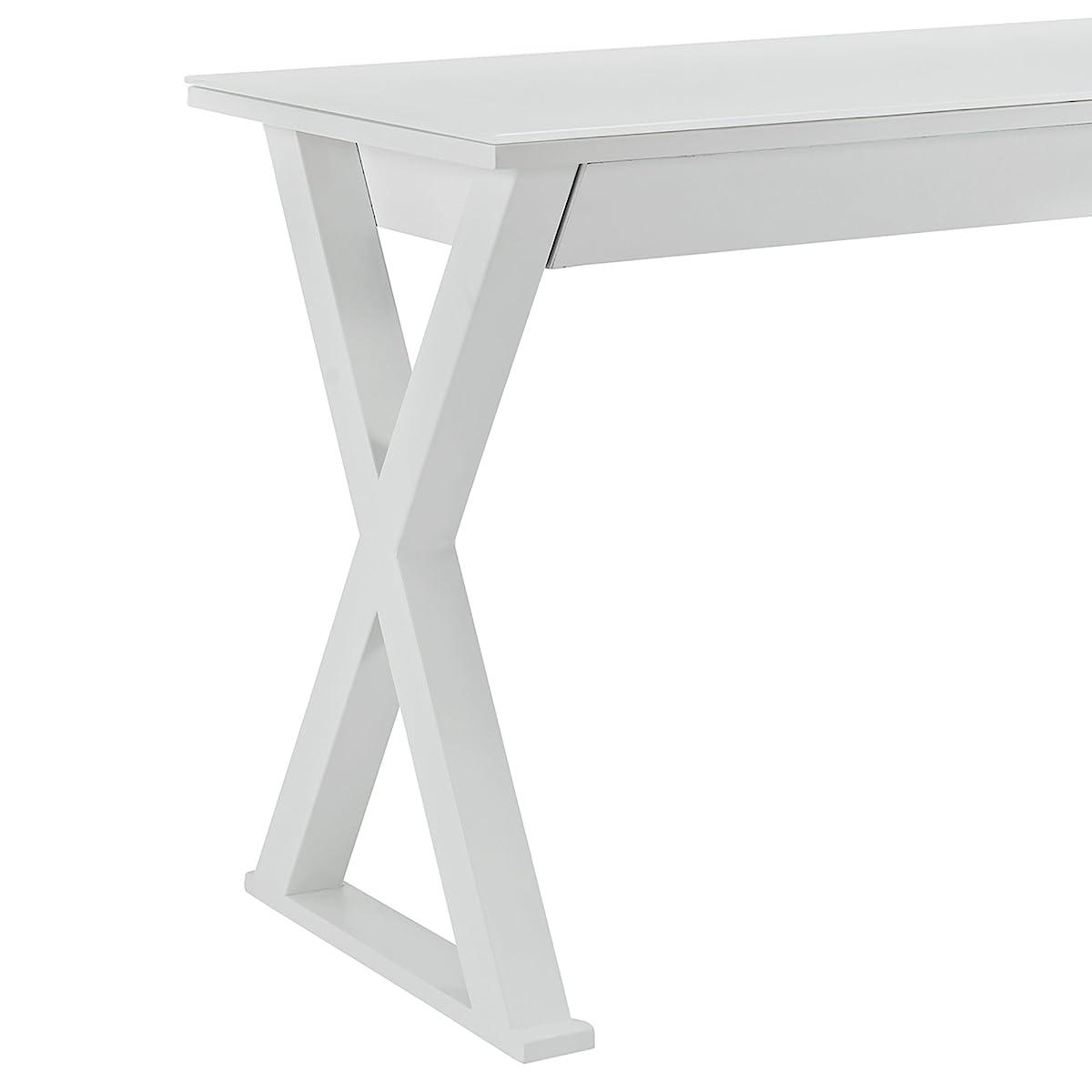 """WE Furniture 48"""" Storage Computer Desk, White"""