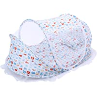 Baby Beach Travel Bed Insect Foldable Tent Folding Portable Bed Lightweight Mosquito Net Cots Beach Pop Up Cribs Mesh Safe Bed Anti Bug Netting Tent for Outdoor Indoor White 0-24 Months