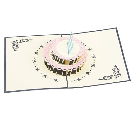 Tarjetas de felicitación de cumpleaños 3D coloridas con ...