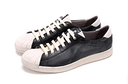 Mens Lace-Up Flats Shoes New Leather Shoes Daily Casual Shoes Soft Leather Shoes Sailor Shoes Large Size 45