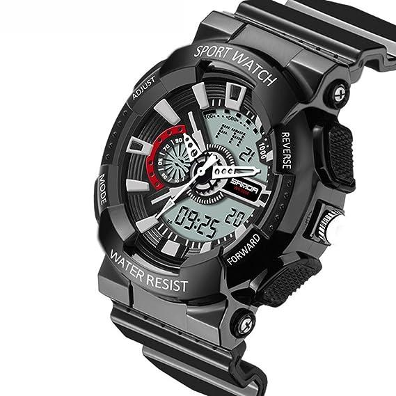 Reloj Automático kadike Para Con Negro Analogico- digital Y Negro watch: Amazon.es: Relojes