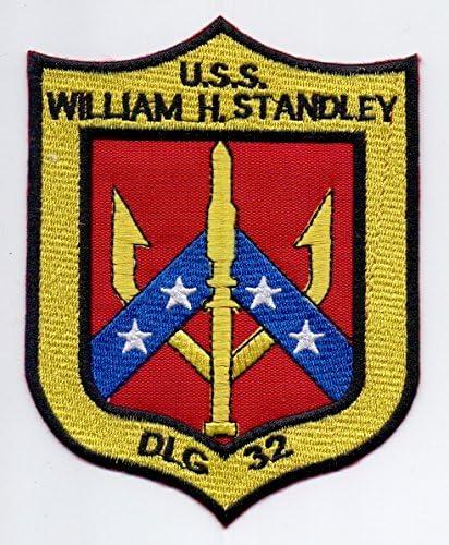 STANDLEY DLS 32 MILITAR WILLIAM H Patch  U.S.S Parches Termoadhesivos,Parche Bordado Para la Ropa Termoadhesivo Parche