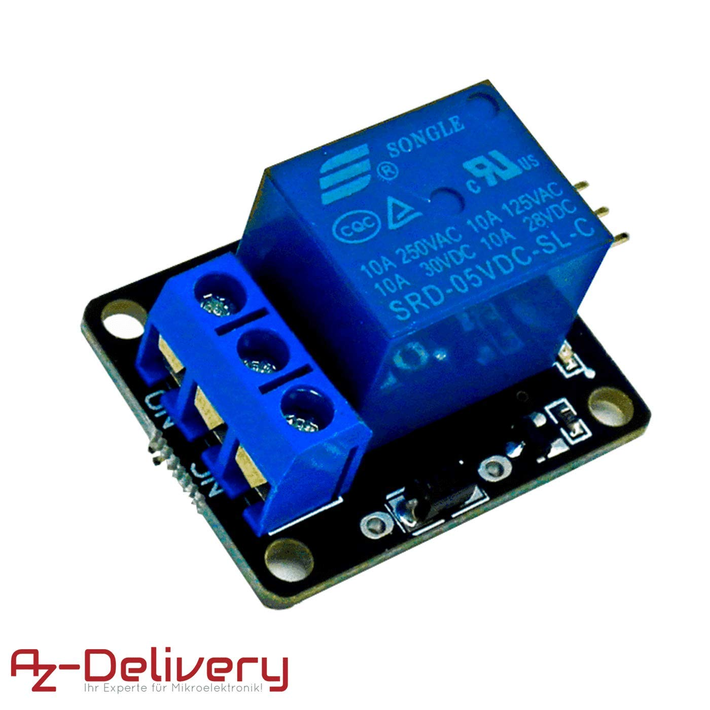 AZDelivery ⭐⭐⭐⭐⭐ 5 x KY-019 1-Channel 5V Relay Module with Optocoupler High Level Trigger for Arduino including eBook