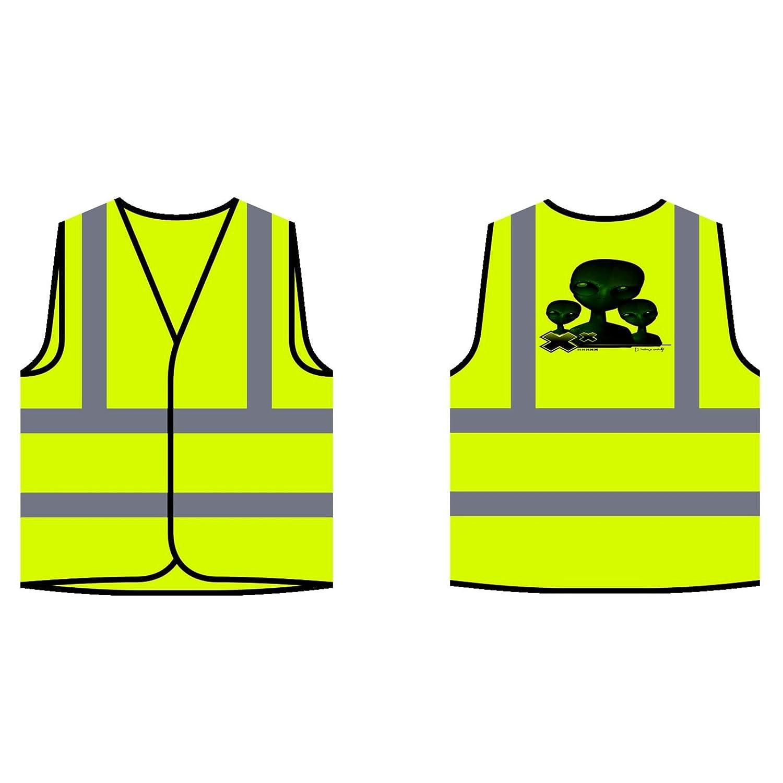 mod/èle daffiche Alien Veste de Protection Jaune personnalis/ée /à Haute visibilit/é u412v