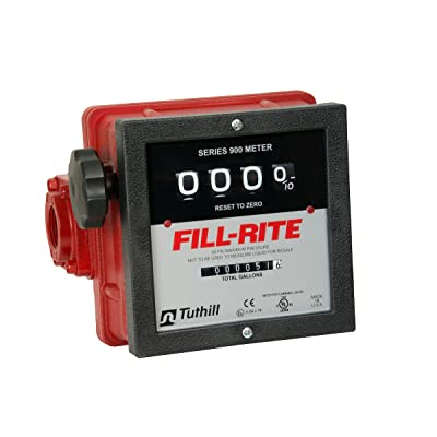 "Fill-Rite 901C 1"" 6-40 GPM 4 Digit Mechanical Fuel Transfer Meter: Industrial & Scientific"