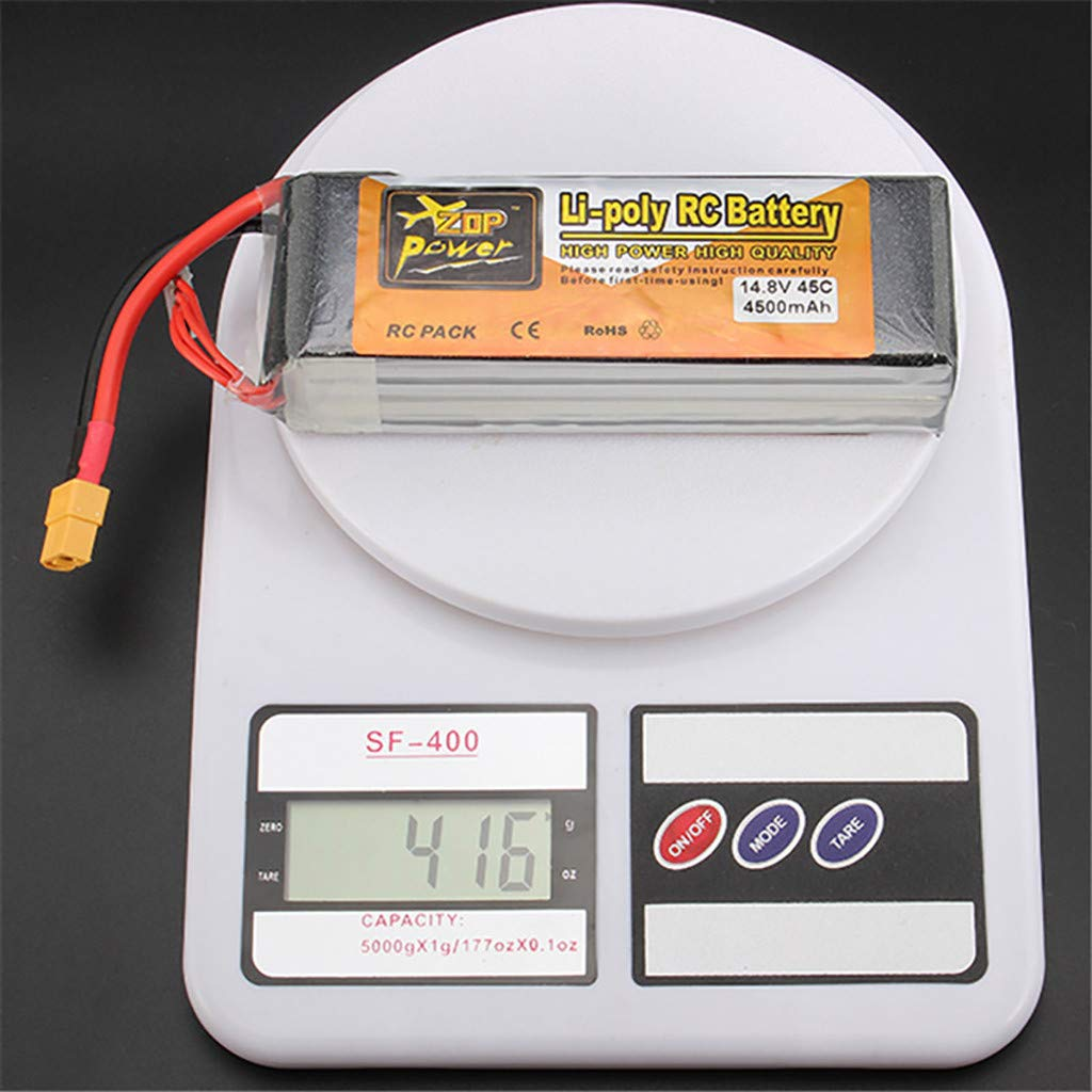 Giokfine 2019 ZOP Power 14.8V 4500mAh 4S 45C Battery XT60 Plug for RC Car Helicopter Part by Giokfine (Image #4)