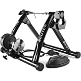 Bike Trainer, Magnetic Bicycle Stationary Stand for Indoor Exercise Riding, Portable, Quick Release Skewer & Front Wheel Rise