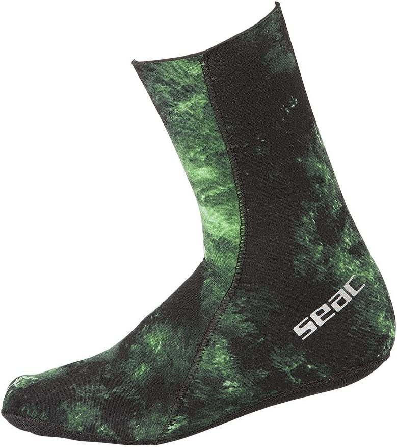 Calze in Neoprene da 3.5 Mm per Pesca Subacquea in Apnea Unisex Seac Anatomic Camo Socks Adulto