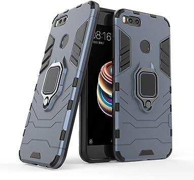 Funda Xiaomi Mi A1, Soporte de Metal Mezcla Doble Capa Armadura ...