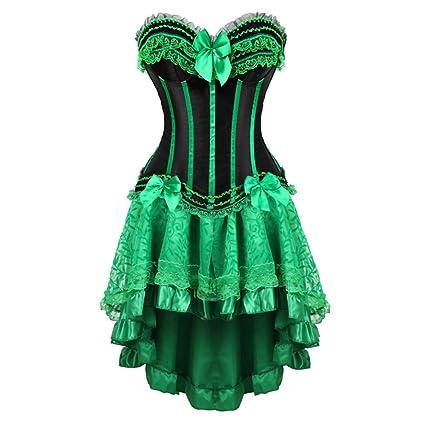 Amazon.com: SUSHENYIHHY Lace Corset Dresses Burlesque Plus ...