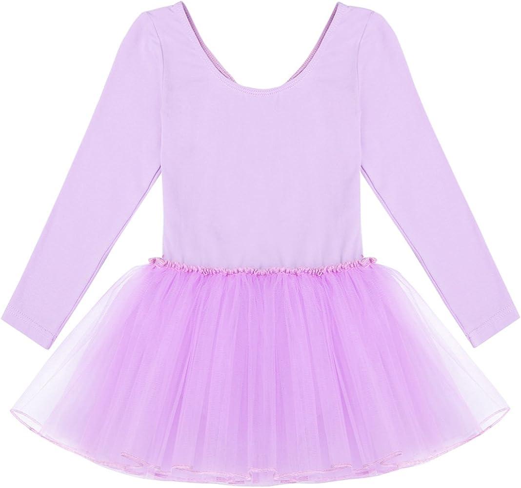 IEFIEL Maillot de Ballet Niña con Falda Manga Larga Vestido de ...