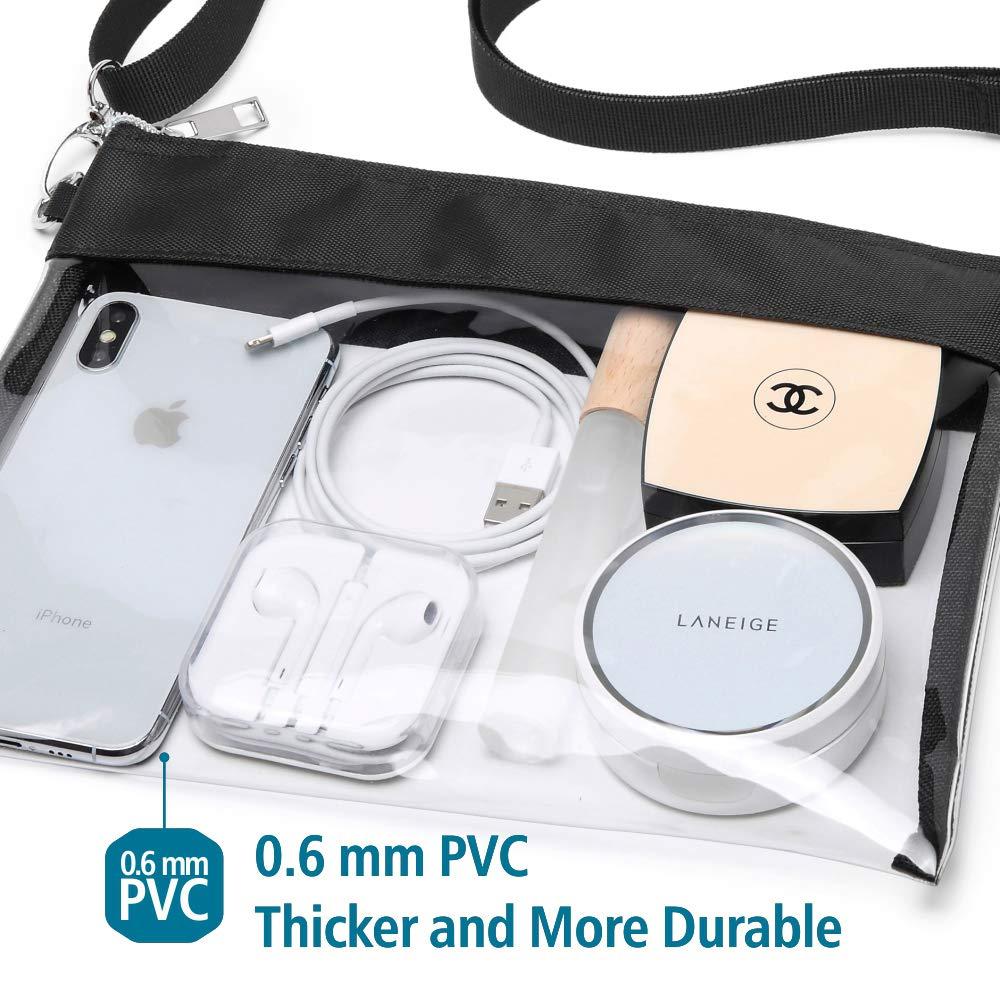 Amazon.com: Veckle Bolso transparente, bolso transparente ...