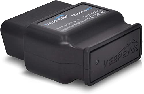 Veepeak OBDCheck BLE OBD2 Bluetooth Scanner Auto OBD II Diagnostic Scan Tool for iOS /& Android OBD Fusion App Bluetooth 4.0 Car Check Engine Light Code Reader Supports Torque