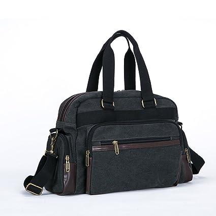 3c6d642ad421 Amazon.com: Ybriefbag Unisex Canvas Travel Bags, Men's Single ...