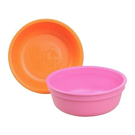 Re-Play Hecho en los EEUU Niño 2pk cuencos para su comida para una ...