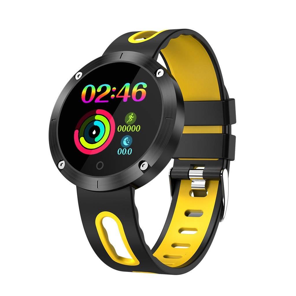 Hot Sale! NDGDA,Male Female Heart Rate Monitoring - Sports Smart Watch DM58PLUS (Yellow)