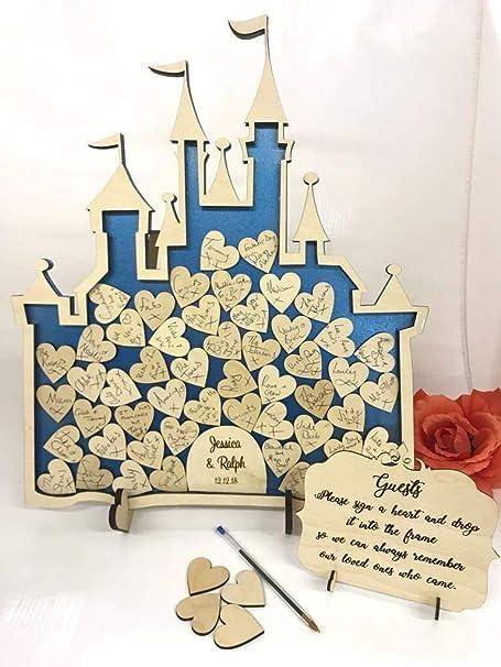 Hada Castillo 52 Cenicienta metálico azul boda Drop caja ...