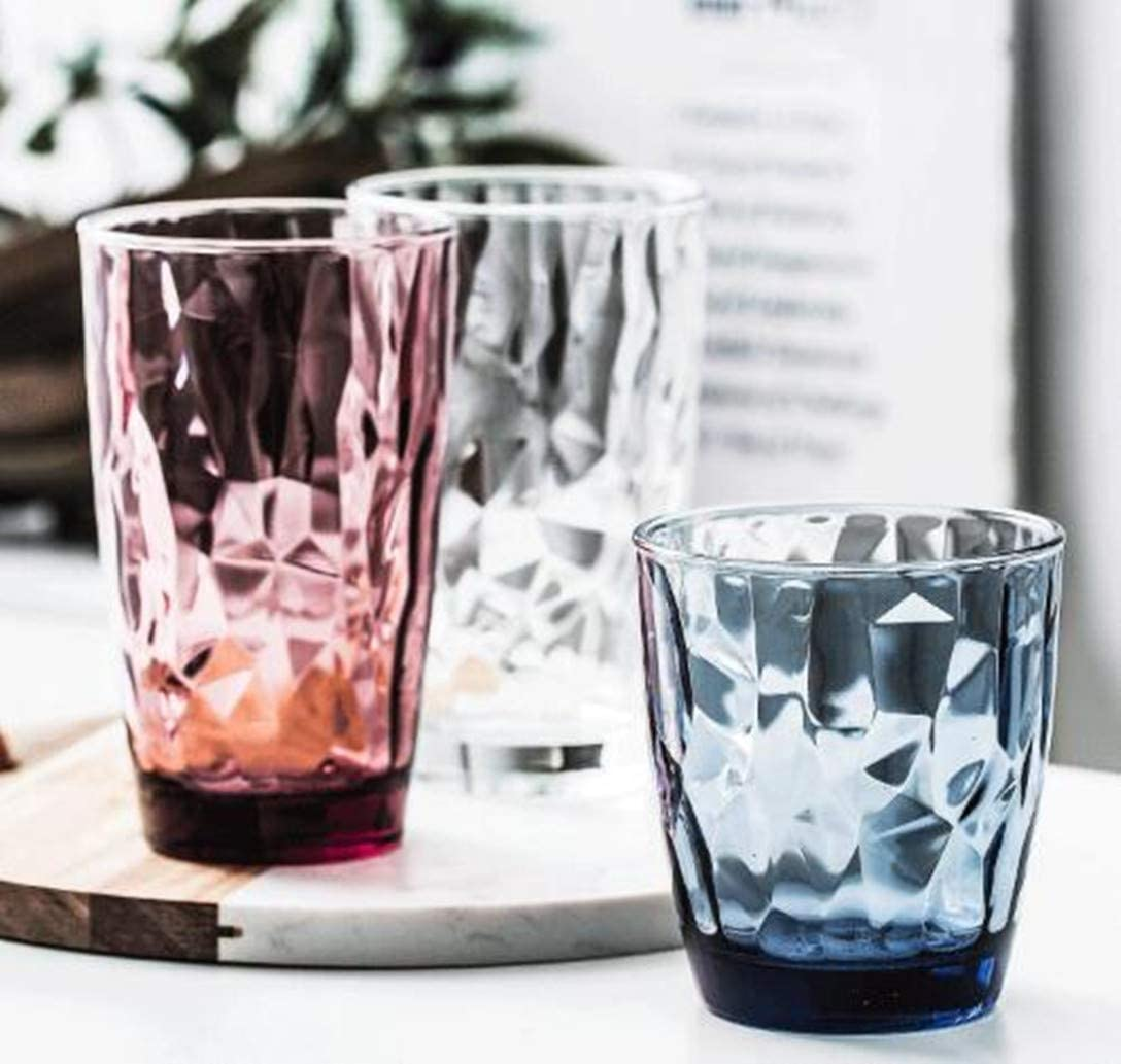 Azul Cafe de pl/ástico resistente a la rotura que bebe la taza del agua restauraute Vasos de 10oz bebidas Copas de c/óctel apilables irrompible Caddy vino tazas de pl/ástico de los vidrios Conjunto