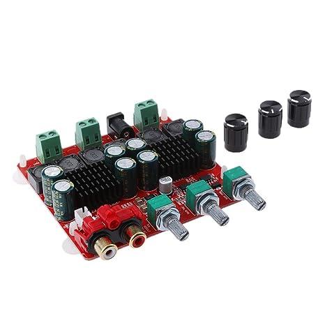 perfk Clip de Amplificador de Potencia de Audio, 2 x 50W + 100W, Accesorios
