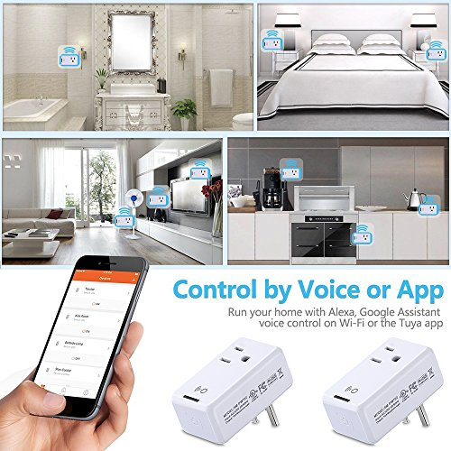 Smart WiFi Outlet Socket, BOSCHENG Wireless Outlet Switches Remote Control WiFi Timing Socket for Household Appliances, Works with Amazon Echo Alexa & Google Assistant (2 PCS) by BOSCHENG (Image #7)