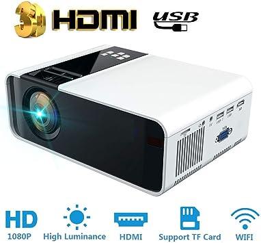 Hakeeta Proyector 3D portátil, Ultra-HD 1080P 8000 lúmenes ...