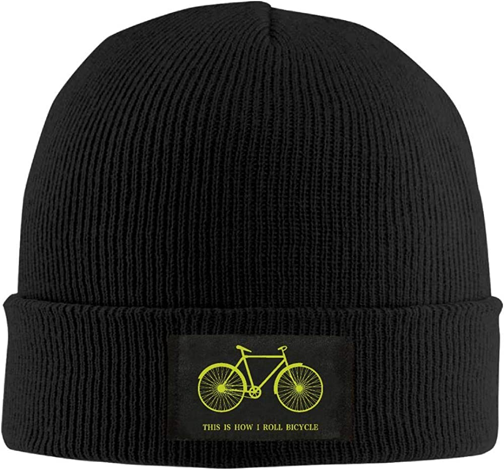 DLOAHJZH-Q Adult Unisex This is How I Roll Bicycle Student Wool Cap