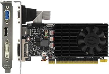 DDR3 DVI SMARTRICH Carte Graphique pour GeForce GT730 VGA HDMI PCI-E Low Profile Noir 2 Go
