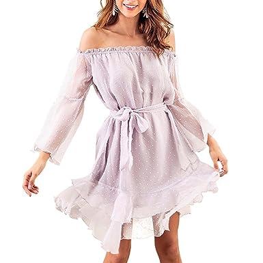 kingko® Damen Kleider, Damen Sommerkleid Beiläufige Langarm Hoody Kleid der  Art und Weisefrauen Skaterkleid 6de42a7cb0