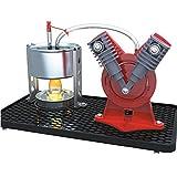 Sunnytech® Mini Hot Live Steam Engine Model Education Toy Kits DIY (V-type)