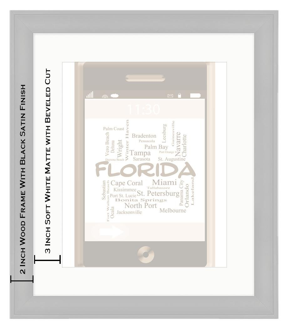 Amazon.com: Ashley Framed Prints Florida State Word Cloud Concept On ...