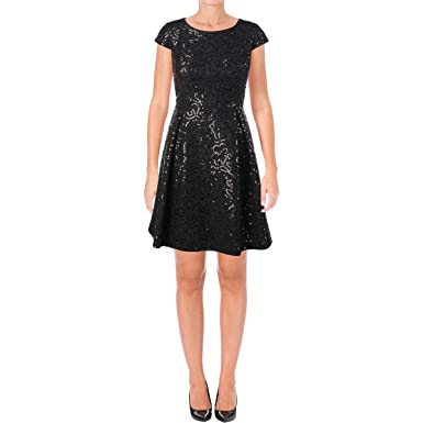 e54b7c17744 Calvin Klein Womens Sequin Fit   Flare Dress at Amazon Women s Clothing  store