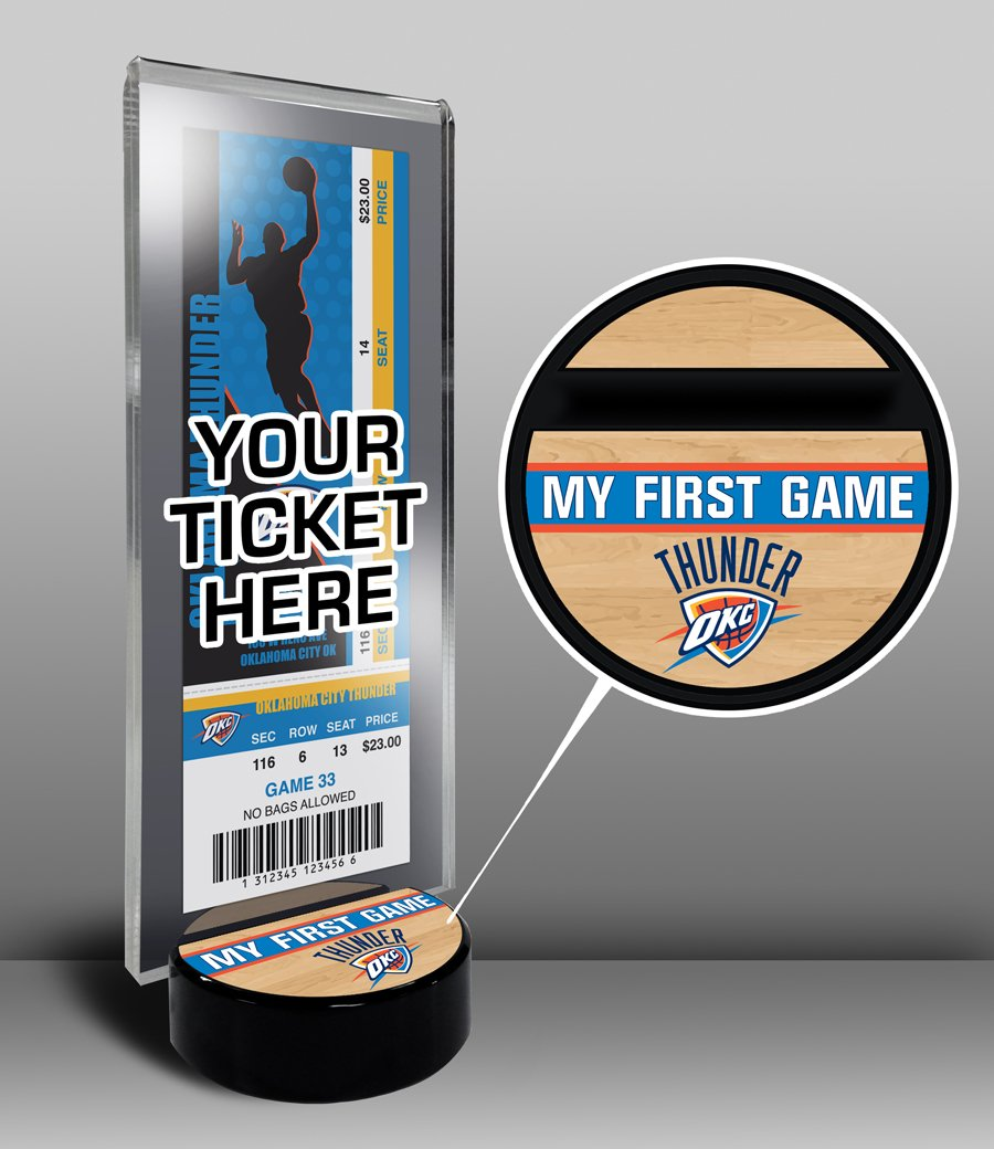 NBA Oklahoma City Thunder My First Game Ticket Display Stand, One Size, Multicolored by That's My Ticket