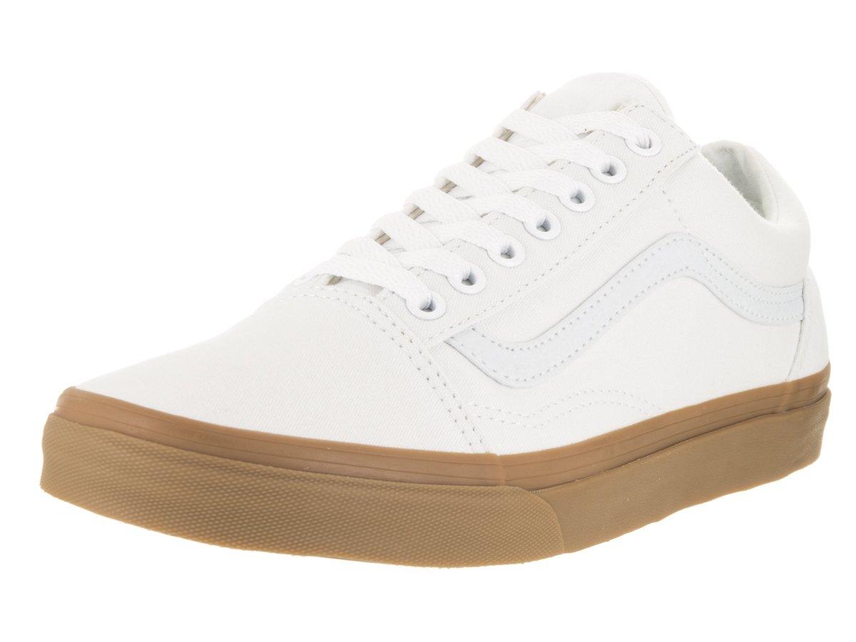 Vans Unisex Old Skool Classic Skate Shoes B01CRB68PU 9 B(M) US|True White / Light Gum