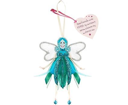 Fair Trade Fairies - 'Good Friends Are Like Stars   ' Glitter Quote Fariy