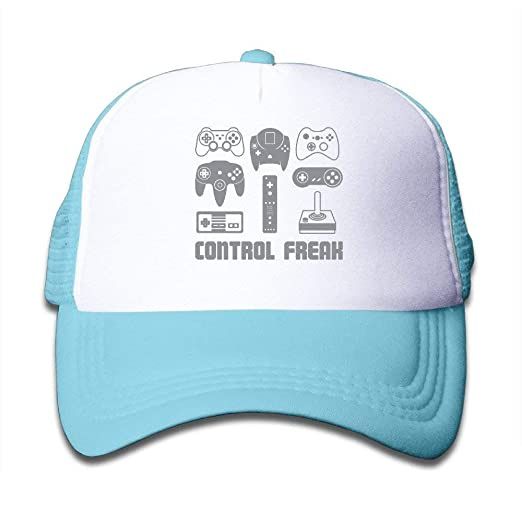 3f9338f393462 Image Unavailable. Image not available for. Color  Video Game Control Freak  Gaming Children s Casual Unisex Adjustable Hats Caps Mesh ...