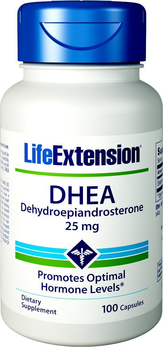 Life Extension DHEA 25mg, 100 Capsules