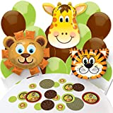 Funfari - Fun Safari Jungle - Confetti and Balloon Baby Shower or Birthday Party Decorations - Combo Kit