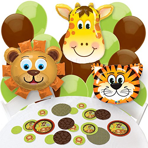 Funfari - Fun Safari Jungle - Confetti and Balloon Baby Shower or Birthday Party Decorations - Combo Kit (Fun Confetti)